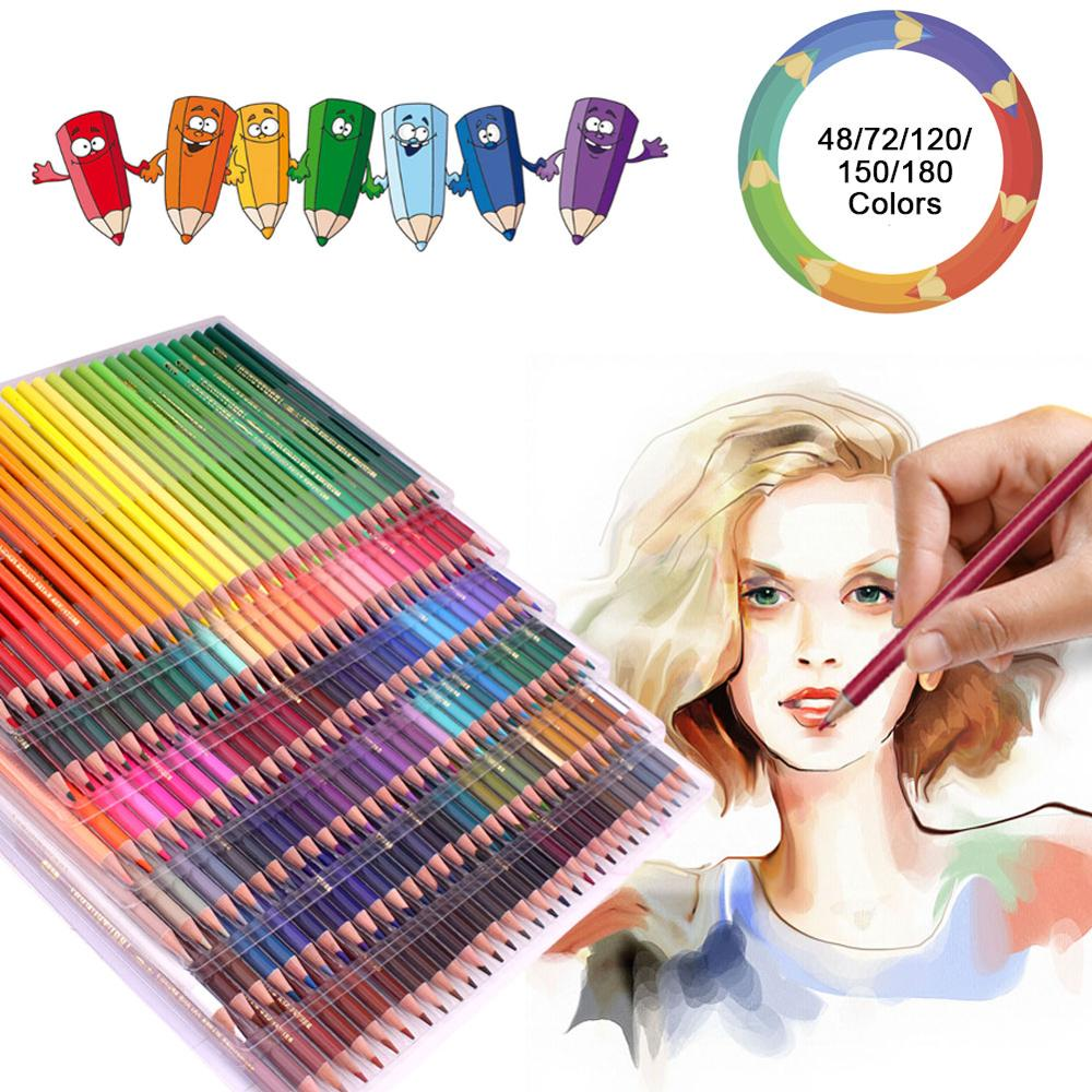 180 Watercolor Pencils Set Premium Quality Coloured Cores with Vivid Colours to Create Beautiful Blended Effects with W