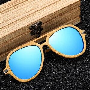Image 2 - GM Vintageไม้ไผ่ไม้แว่นตากันแดดชายหญิงยี่ห้อDesignerกรอบโลหะแว่นตากันแดด
