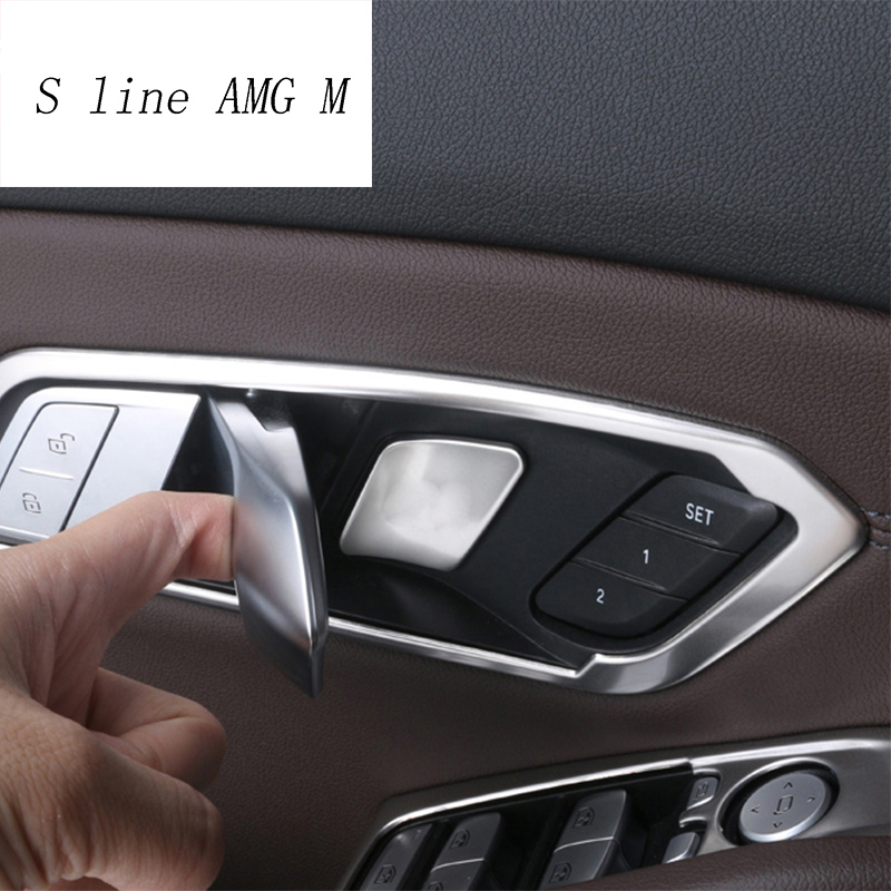 Car Styling For BMW 3 Series G20 G28 Interior Panle Door Handle Covers Trim Protect Door Bowl Stickers Decoration Accessories