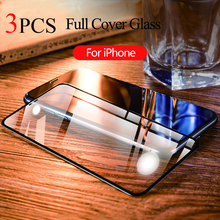 9D Tempered Glass For iPhone XS Max Screen Protector On XR 7 8 X 6 6s Plus Protective Film Full Cover
