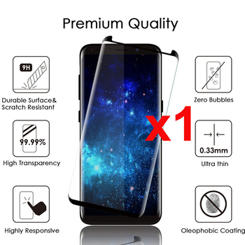 for Samsung Galaxy S9 S8 Plus Glass Screen Protector Full Glue Adhesive Tempered Glass Screen Protector Case Friendly Film image