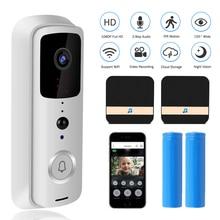 Timbre de puerta inalámbrico para exteriores dispositivo de comunicación con WIFI, resolución de 1080P, Monitor de seguridad inteligente para el hogar, visión nocturna IR, resolución de 720P