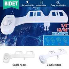 Bidet Toilet-Seat Nozzle Spray Self-Cleaning-Sprayer Bidet-Attachment Non-Electric Double-Head