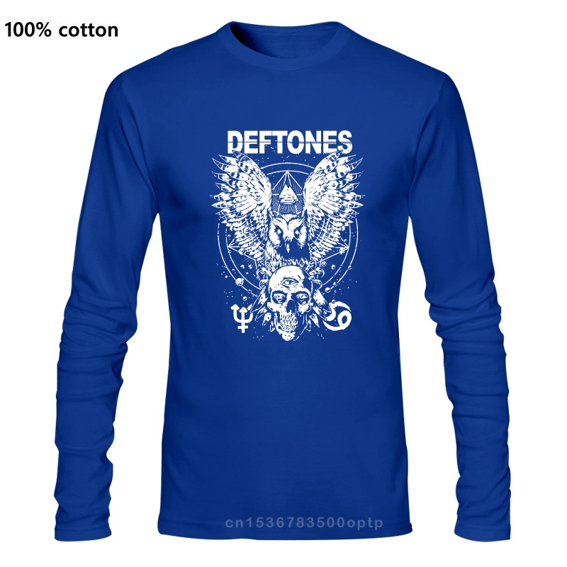 Deftons – T-Shirt noir avec motif diamant, yeux, hibou et têtes de mort, groupe Rock Indie, musique Hd81, Cool, cadeau, personnalité