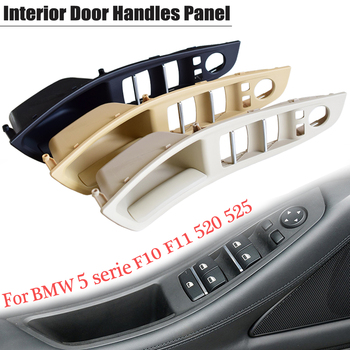 New Styling ABS Plastic Inner Doors Panel Handle Pull Trim Cover For BMW 5 serie F10 F11 520i 525d 535i 51417225875 Black/Beige image