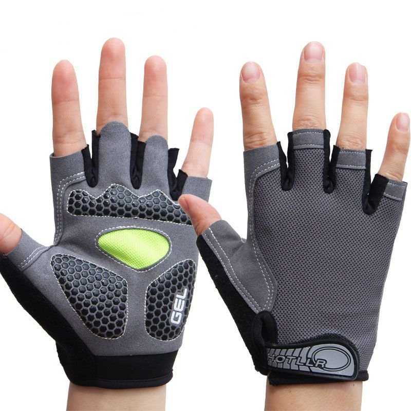 Hot Unisex Männer Frauen Sport 3D <font><b>GEL</b></font> Gepolsterte Anti-Slip Handschuhe Gym Fitness Gewicht Lifting Body Building Übung Training workout image