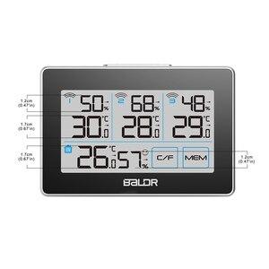 Image 4 - Baldr CD ميزان الحرارة مقياس الحرارة محطة الطقس تستر 3 اللاسلكية في الهواء الطلق الارسال الرطوبة الاستشعار رصد