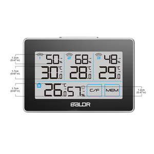 Image 4 - Baldr CD Thermometer Temperature Meter Weather Station tester + 3 Wireless Outdoor Transmitter Humidity Sensor Monitor