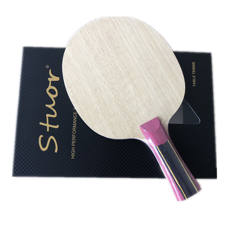 Stuor 5 Layers Wood With 2 Layers Super Zlc Carbon Fiber Table Tennis Racket Only Blade For Ping Pong FL CS ST Grip