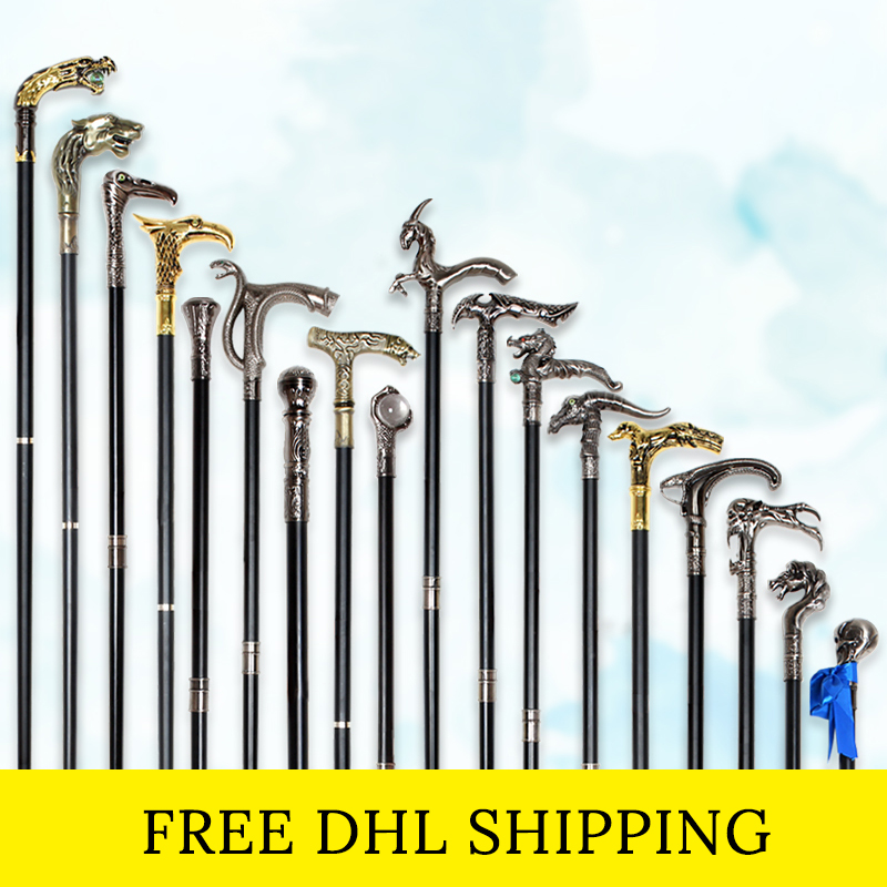 Free DHL Fashion Walking Stick Canes For Men Luxury Decorative Knob Walking Cane Steampunk Skull-Head Cane Elegant Hand Stick