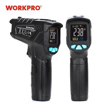 WORKPRO Termòmetre digital Mesurador d'humitat Termòmetre d'infrarojos Higrómetre Mesurador de temperatura amb làser Piròmetre sense contacte