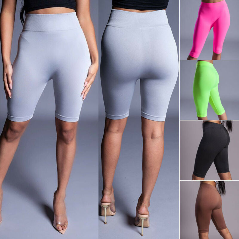 High Waist Fitness Leggings Sports Running Workout Womens Midi Short Trousers Black White Pink Red For Women Ladies
