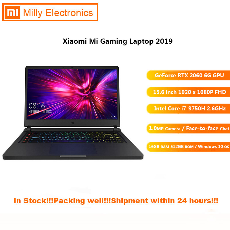 2019 Xiaomi Mi Gaming Laptop Windows 10 Intel Core I7 - 9750H 16GB RAM 512GB SSD HDMI Notebook Type -C Bluetooth
