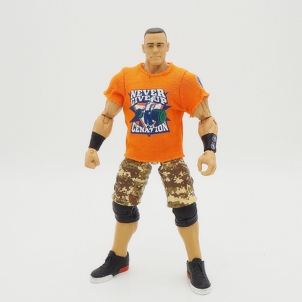 Wrestling gladiators Action figures Wrestler SuperHeroe Kids Gift Toys John Cena Orange tee