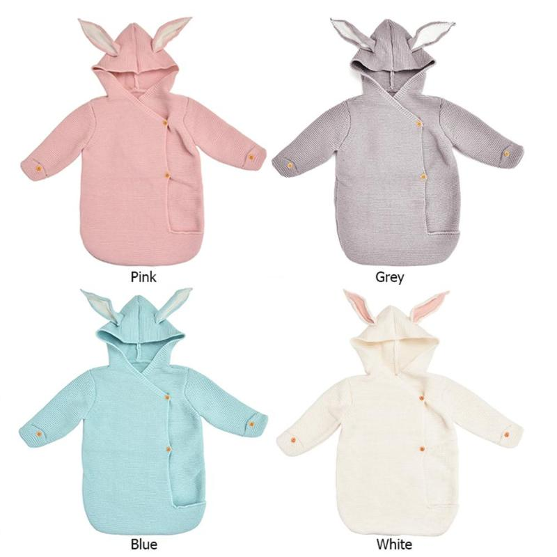 Rabbit Ears Baby Sleeping Bag Newborn Swaddle Envelope Infant Stroller Blankets Fashionable Liberal And Lovely Appearance