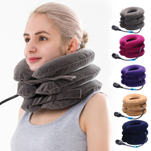Traction-Device Brace Cervical-Collar Inflatable-Neck-Stretcher Relieve-Pain Vertebra-Support
