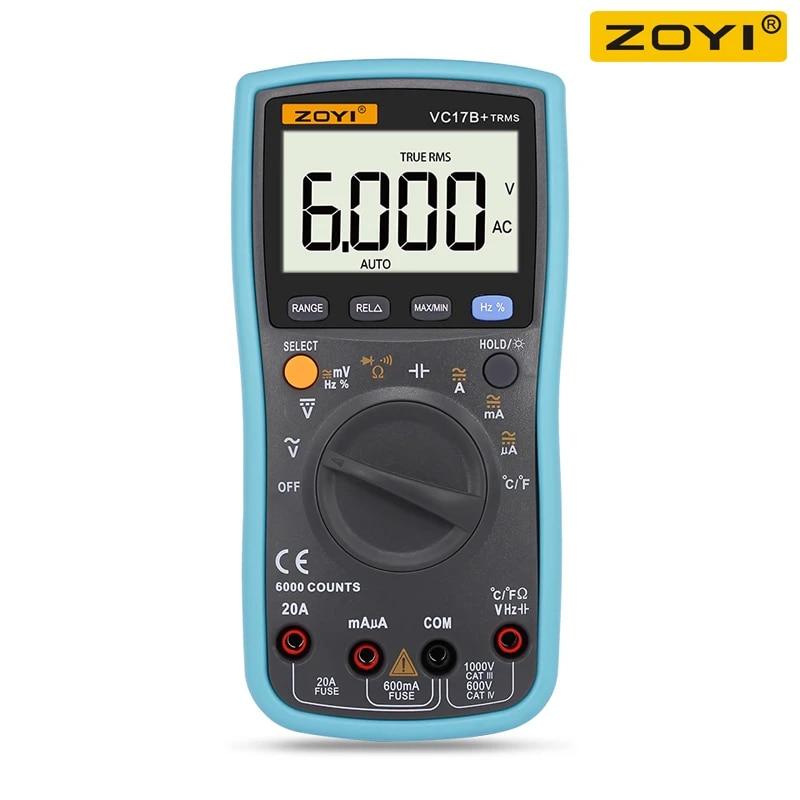 ZOYI VC17B+ Digital Multimeter TURE RMS Auto Range Volt Meter Tester Temprature Continuity Tester Multimeters  - AliExpress