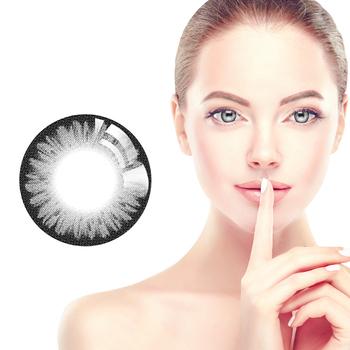 Horien kolorowe soczewki kontaktowe 5 szt Codzienne jednorazowe kobiece piękne soczewki źrenic kolor czarny tanie i dobre opinie NoEnName_Null CN (pochodzenie) 14 20mm Inne 0 06-0 15mm HEMA Piękne Uczeń