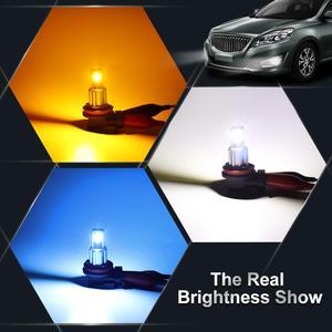 Image 4 - 2Pcs LED H8 H11 Led Bulb 9005 HB3 9006 HB4 Led Auto Fog Light 6500K 8000K 4300K Car Lamp 12V Driving Running Lamp Blue Amber