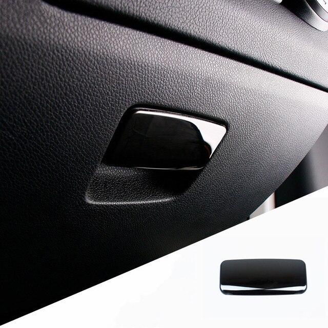 Stainless Steel Car Co pilot Glove Box Switch Panel Decoration Sticker Trim For Mercedes Benz CLA C117 GLA X156 A Class Decals