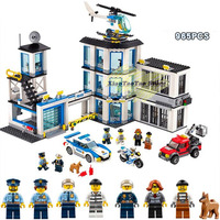 10660 936pcs City Police Station Bela Building Block Compatible Legoinglys City 60141 Bricks Toy