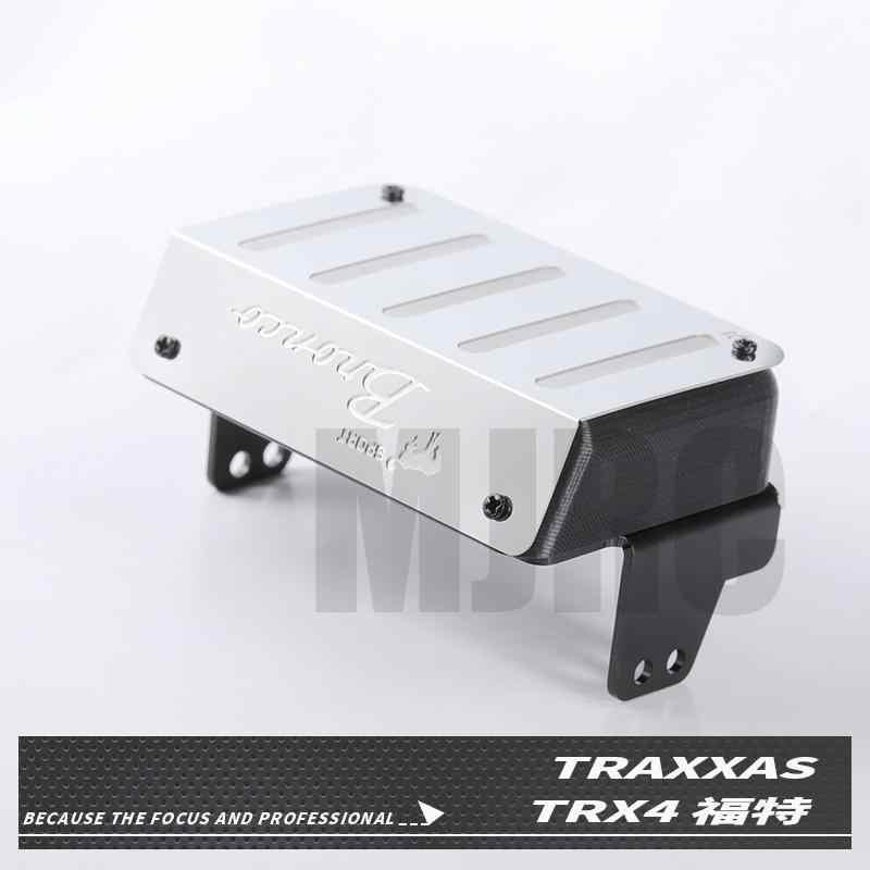 Depósito de combustible metálico y tubo de escape 1/10 Rc camión de orugas Ford Bronco Traxxas Trx4 tubo de escape trasero Ford 82046-4 TRX4 dedicado