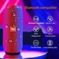 Portable Speaker Wireless Bluetooth-compatible Column Waterproof Outdoor USB AUX TF FM Radio Subwoofer Loudspeaker caixa de som