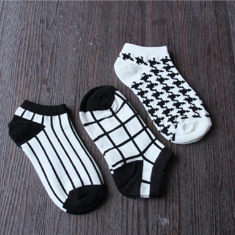 Summer Cotton Women's Boat Socks Plaid Boat Socks Short Socks Wholesale