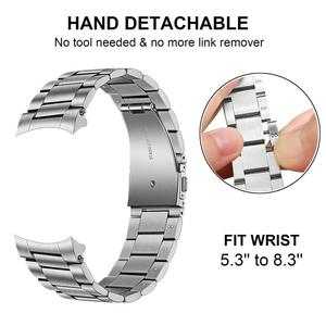 Image 4 - Unique Stainless Steel Watchband + No Gap Clips for Samsung Galaxy Watch 46mm SM R800 Hand Detach Band Quick release Strap Belt
