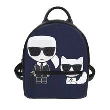 FORUDESIGNS Fashion Girls Mini Backpack Karl Lagerfelds Pattern PU Leather Bags Cartoon Womens String Knapsack Travel
