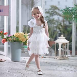 Image 4 - Summer Lace Girls Dress Gauze Kids Princess Dresses for Girl Vest Dress Party Dress Baby Clothes E16900