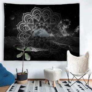 Image 5 - PROCIDA Tapestry Wall Hanging  Art Polyester Fabric Mandala Pattern Theme, Wall Decor for Dorm,Bedroom, Nail included