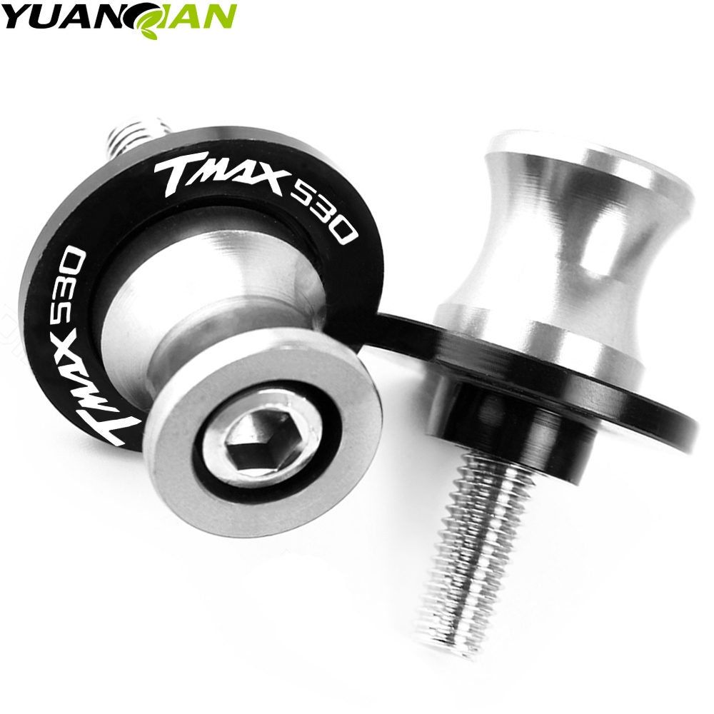 Motorcycle Stands M6 Screw sliders Swingarm Spools Slider For Yamaha <font><b>T</b></font> <font><b>MAX</b></font> TMAX 500 <font><b>530</b></font> <font><b>T</b></font>-<font><b>MAX</b></font> <font><b>530</b></font> DX SX 2004-2016 2017 2018 <font><b>2019</b></font> image