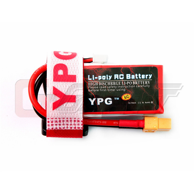 Gartt YPG <font><b>850mAh</b></font> <font><b>3S</b></font> 11.1V 70C LiPo Battery for RC Helicopter Car Boat image