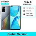 Infinix Note 8 6 ГБ 128 ГБ глобальная Версия Мобильный телефон 6,95 ''HD + Дисплей 5200 мА/ч, Батарея спирально G80 Octa Core 18 Вт Быстрая зарядка