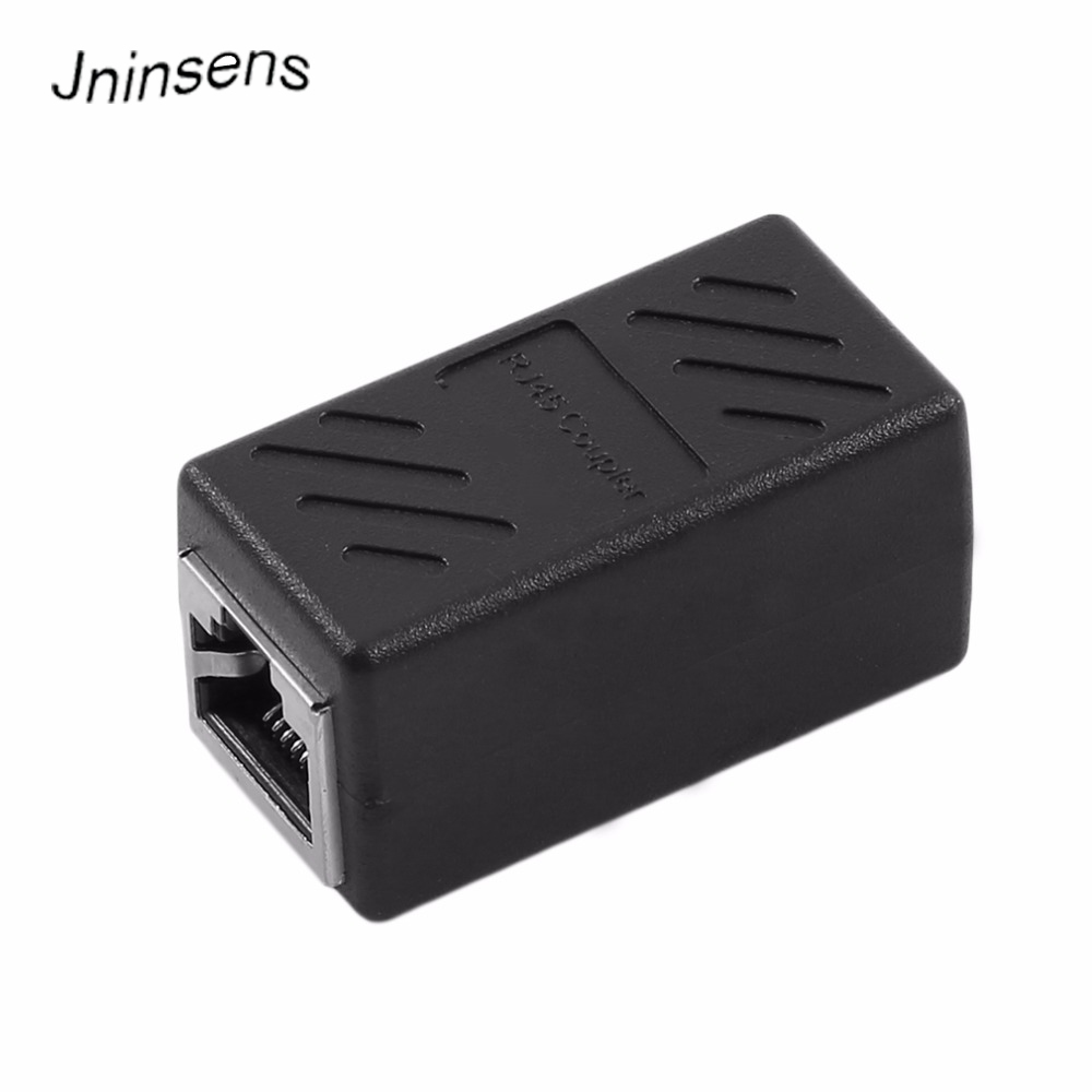 2018 Female To Female Network LAN Connector Adapter Coupler Extender RJ45 Ethernet Cable Join Extension Converter Coupler