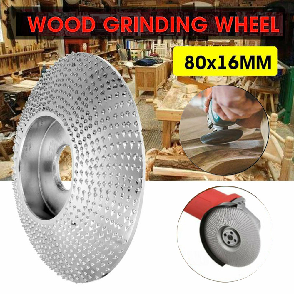 80x16MM Grinding Wheels Wood Sanding Carving Shaping For Angle Grinder B79170 For CONVEX For CONCAVE AREAS Tools Herramientas