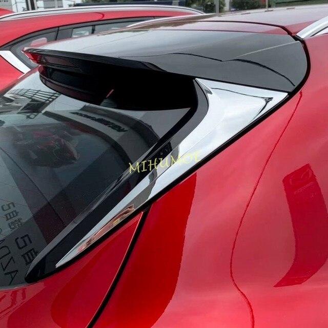Chrome רכב האחורי אחורי חלון ספוילר כנף כיסוי Trim למאזדה CX30 CX 30 DM 2020 2021