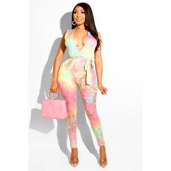 Spring Summer Women Jumpsuit Bodycon Playsuit Bodysuit Overalls Rompers Plus Size Sleeveless V Neck Club Jumpsuits with Belt tiye women bodycon glitter rhinestones sexy shorts playsuit jumpsuit front zipper v neck sleeveless club romper summer overalls