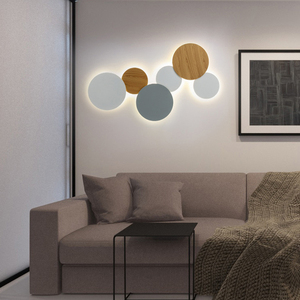 Image 4 - Modern Creative Eclipse LED Ceiling Lamp Stairs Aisle Corridor Background Bedroom Bedside Round Ceiling Light For Livingroom
