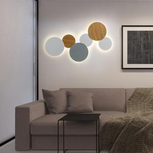 Image 4 - Modern yaratıcı Eclipse LED tavan lambası merdiven koridor koridor arka plan yatak odası başucu yuvarlak tavan ışığı için oturma odası