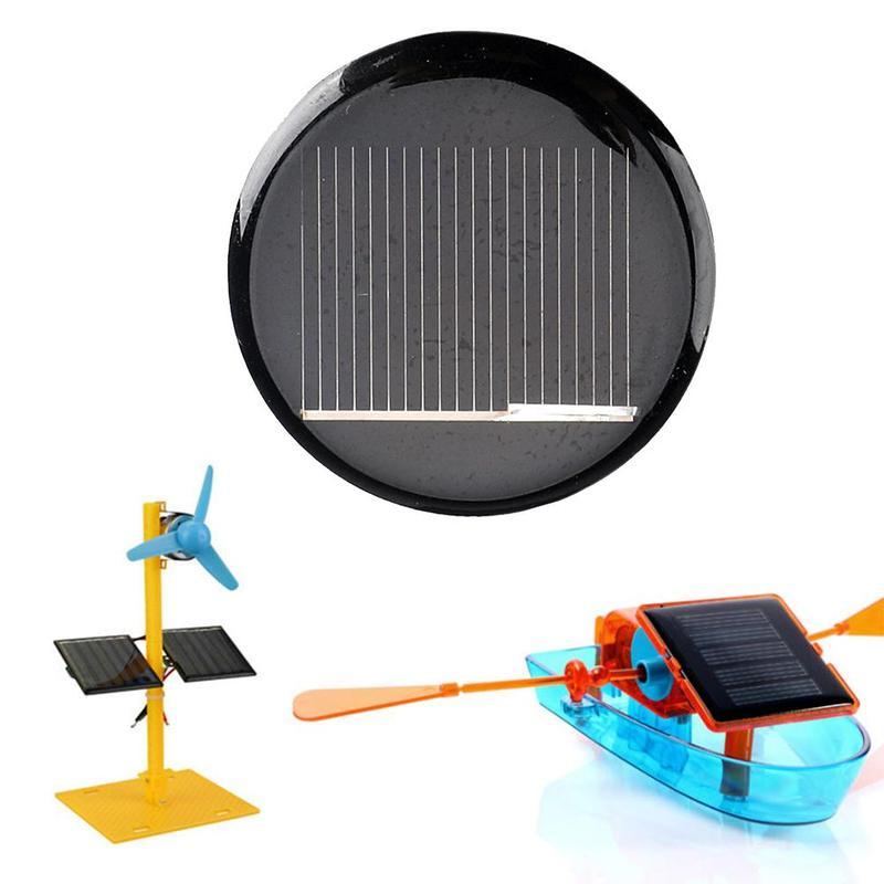 2PCS 45mm 5.5V 100mA DIY Mini Polycrystalline Silicon Solar Cell Module Round Circle Solar Panel Epoxy Plate