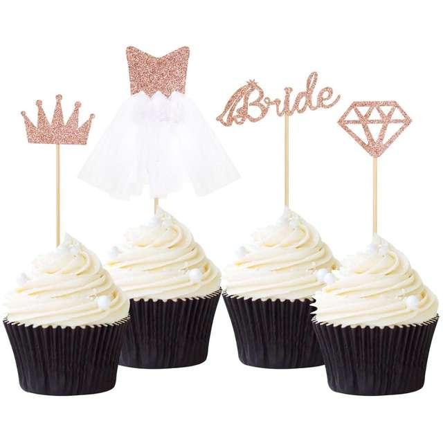 Wedding Cupcake Topper Set 12 Pcs