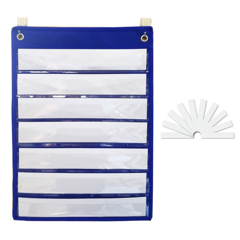 Magnetic Pocket Chart With 10 Dry Erase Cards For Standards Daily Schedule For Office