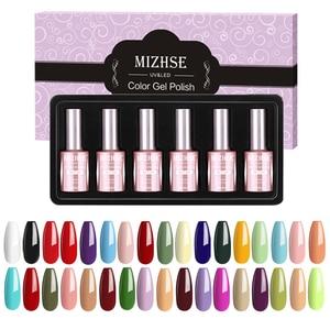 Image 2 - MIZHSE 18ML Gel Lacquer Set Soak Off Gel Varnish Esmalte Para Unha Gel Paint Nails For Finger Extension Hybrid Nail Tips