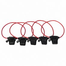5PCS 30A Standard Blade Fuse Holder Splash Proof for 12V 30A Fuses Car Bike