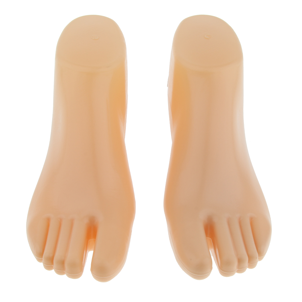 2pcs Men Feet Mannequin Socks Display Foot Stand Model Simulation Left Right, Stable Pedestal Bottom