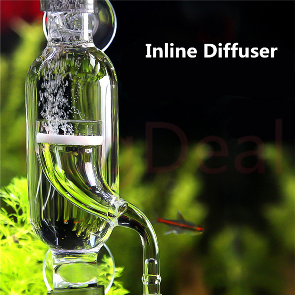 Aquatics Inline Diffuser 12/16 16/22 Glass CO2 Atomizer Bubble Diffuser Reactor Injector For Planted Aquariums Fish Tanks