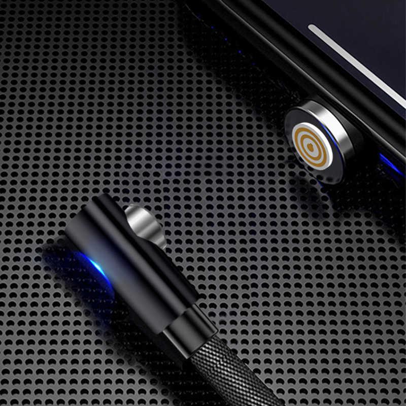 Più nuovo 90 gradi dati transmition Micro Cavo USB Magnetico Cavo di Ricarica Per iPhone Samsung Xiaomi USB Tipo C Caricatore Magnete