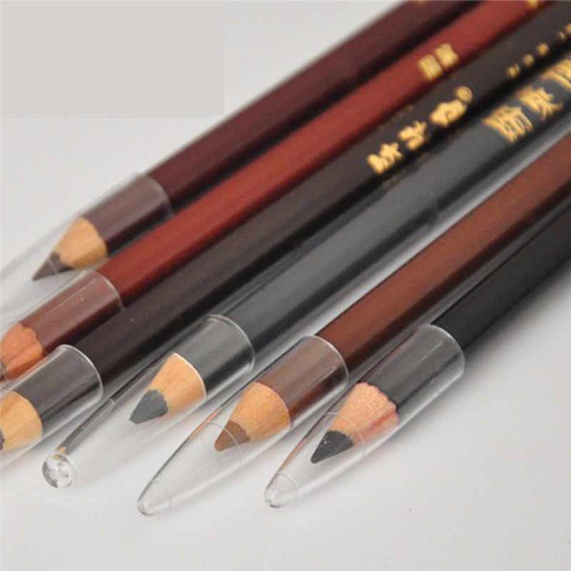 6 สีEyebrowปากกาEasyสีน้ำ-หลักฐานเหงื่อคลาสสิกEyebrowดินสอสียาวแต่งหน้าเครื่องมือ